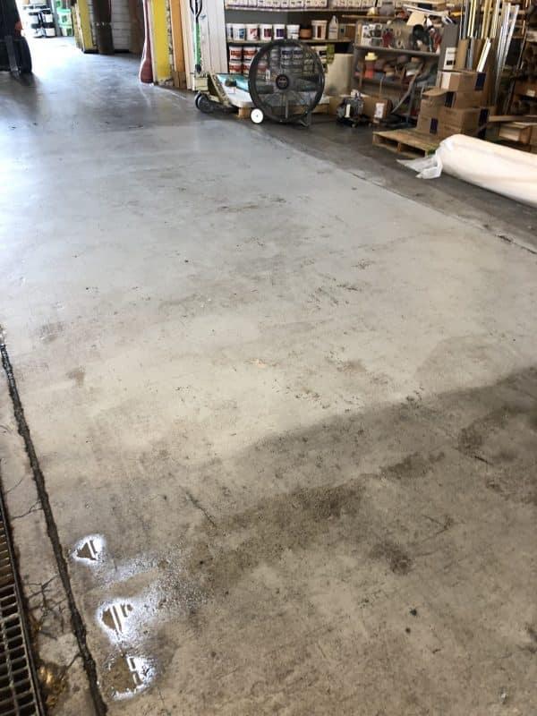 Simix cleans concrete warehouse floors