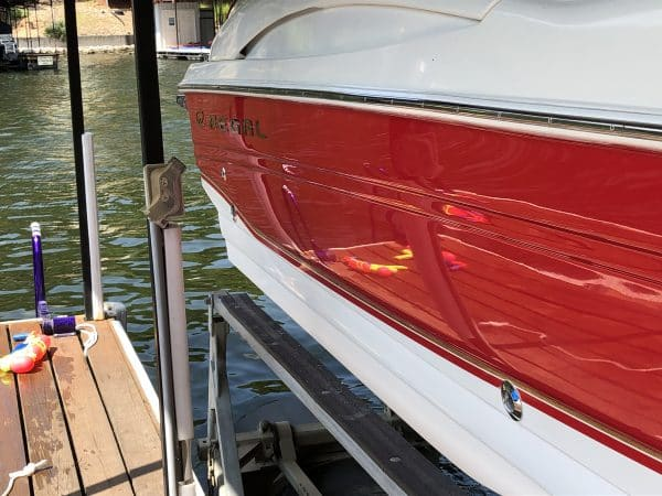 2002 Regal 2600 coated with Simix Multi-Surface Ceramic Coating. Lookin new after 18 years on The Lake of The Ozarks!